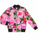 Бомбер для девочки Цветы