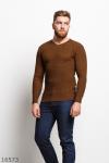 Мужской пуловер 16573 коричневый
