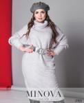 Платье №1281-1Б-Серый