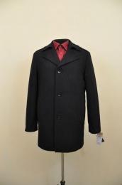 Пальто мужское демисезонное (Рост 176) Сукно Черный