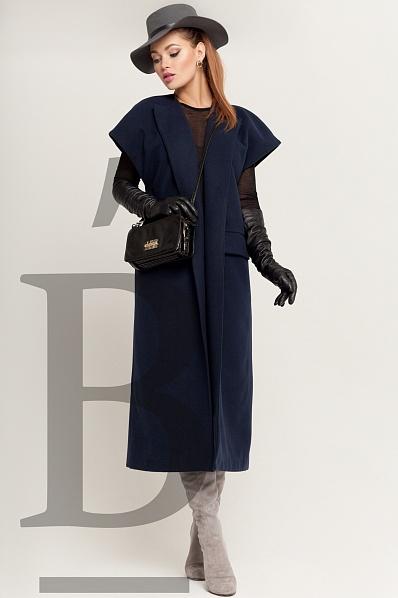Пальто темно-синий