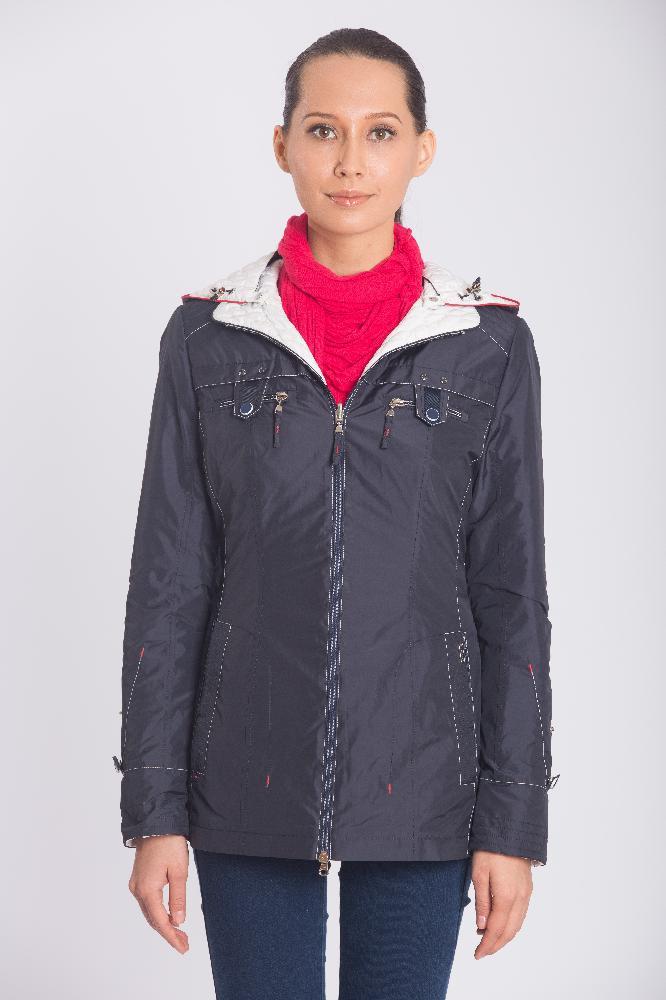Куртка двусторонняя демисезонная, цвет т. синий