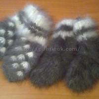 Комплект носки и варежки из кроличьего пуха