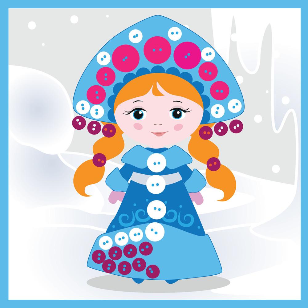 Картинка голова снегурочки цветная