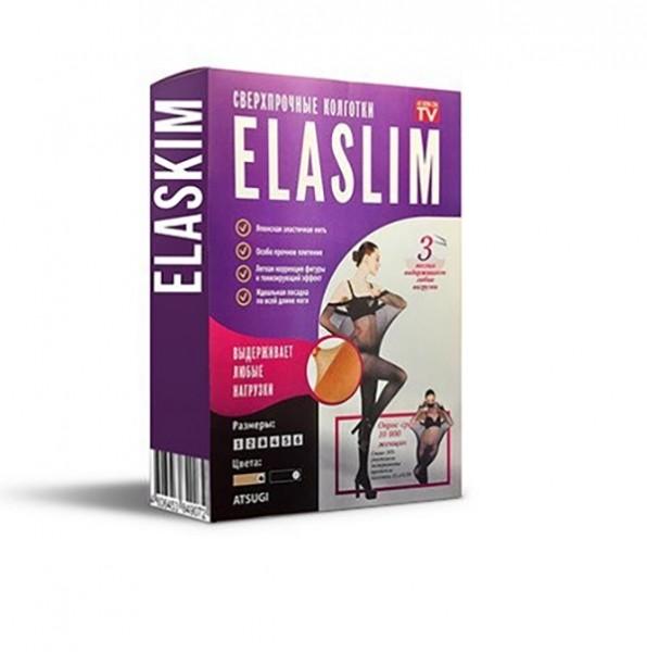Нервущиеся капроновые колготки ELASLIM телесные 1-6 размеры