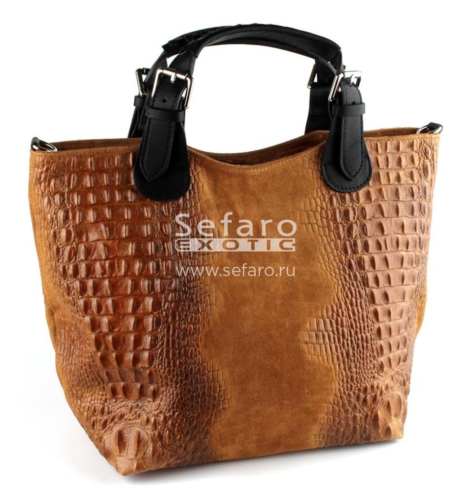 Натуральные замшевые итальянские сумки