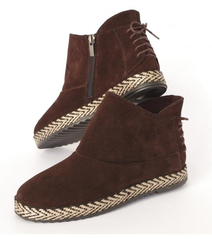 Ботинки демес. натуральная кожа/замша