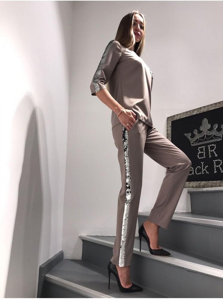 Костюм с брюками Black Rich серый