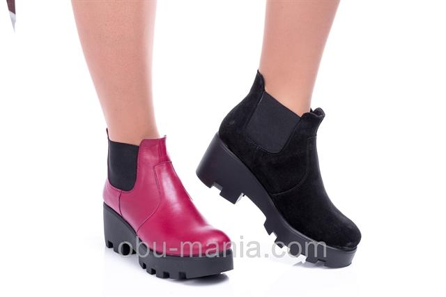Ботинки Classic Fashion 3454 бордо кожа