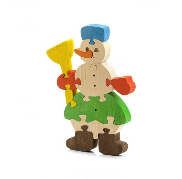 Снеговик (деревянный пазл)