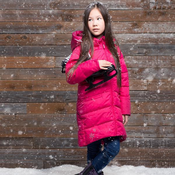 Зимнее пальто W16111 DARK PINK Морозная клюква