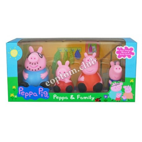 Свинка пеппа резиновые игрушки купить