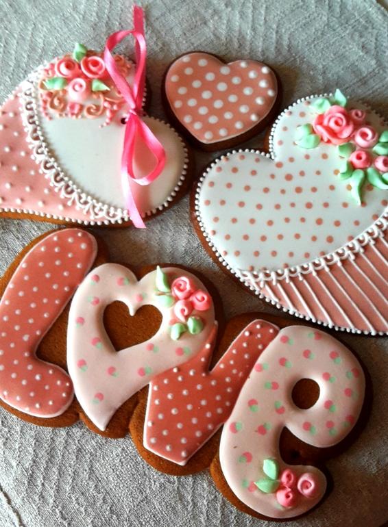 Имбирное печенье на валентинов день