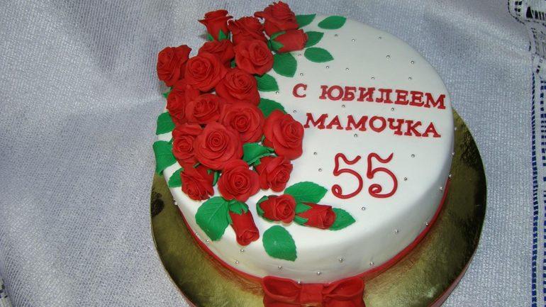 торт на юбилей маме фото