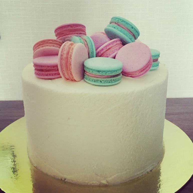 фото торт с макаронами