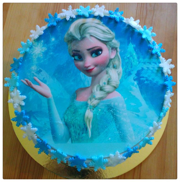 тортиком с фото эльзы