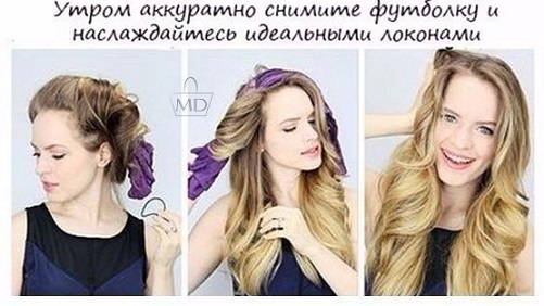Основная накрутка волос