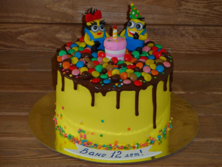 Торт негр с черничным вареньем фото 1