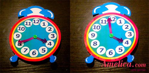 Часы детям для обучения своими руками