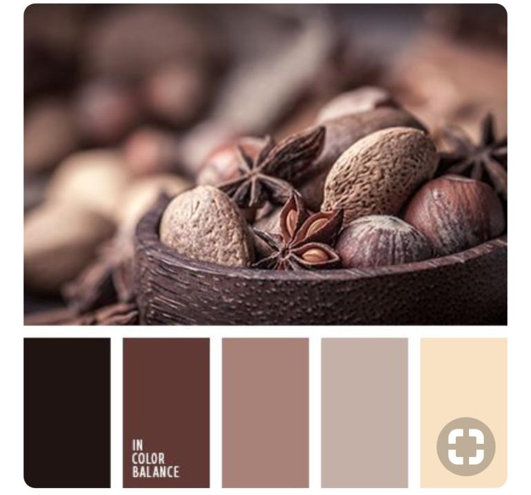 Картинки сочетания цветов коричневый