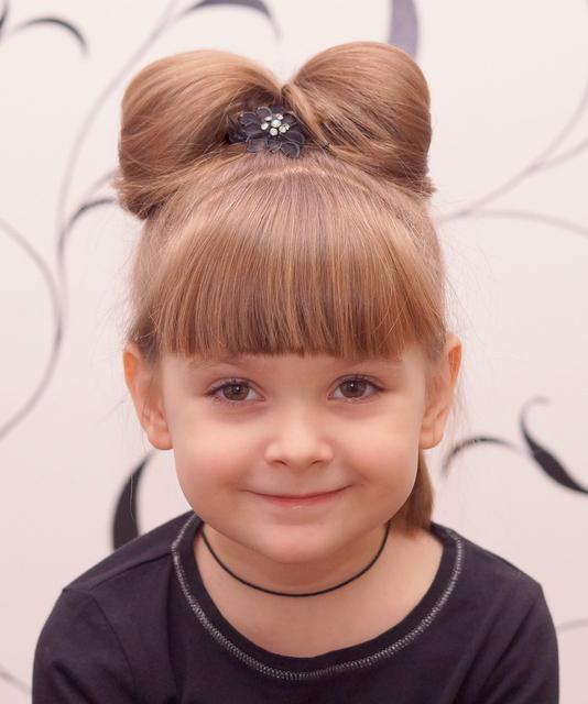 Прическа бантик для маленькой принцессы - Я happy МАМА 28