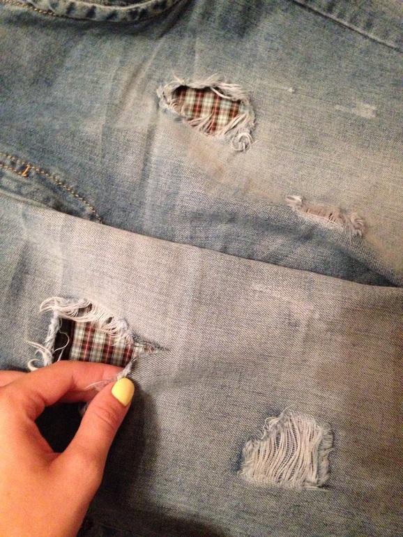 Порвались джинсы на коленке как сделать рваные джинсы