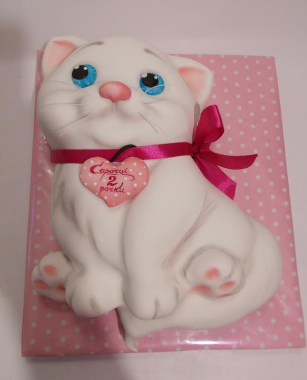 Котенок из мастики фото